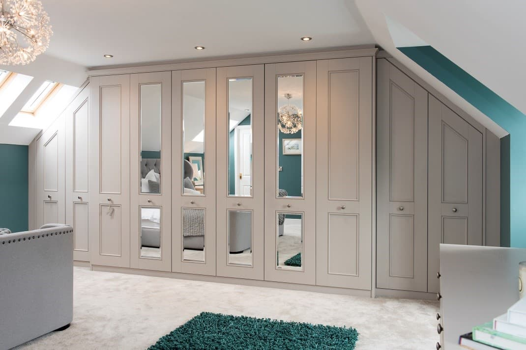 A sloped ceiling is not a problem when using Hammonds as they are made to order wardrobe doors. & Replacement Hinged u0026 Fitted Wardrobe Doors | Hammonds