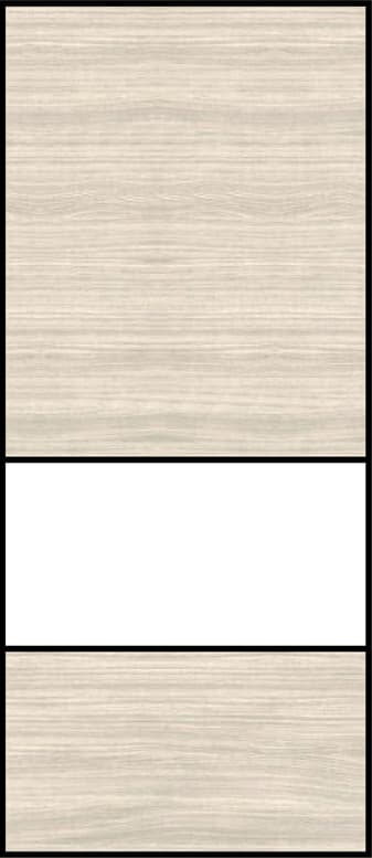 3 Piece Sliding - Top & Bottom Panels - Rural Oak