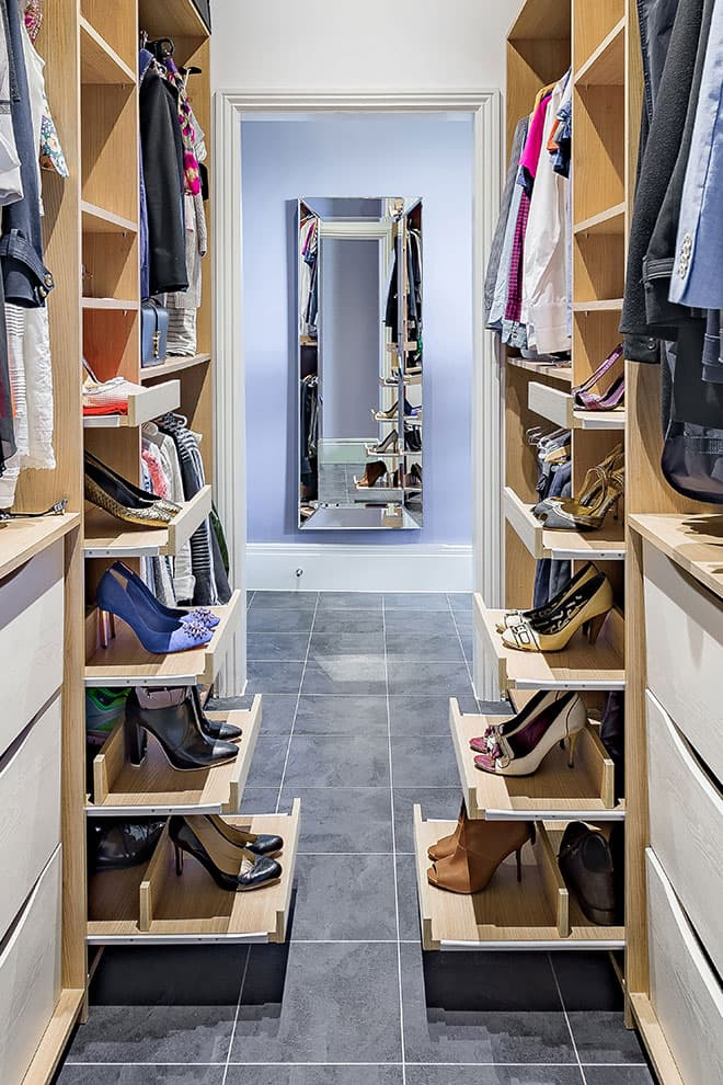 Walk-in wardrobes shoe rack