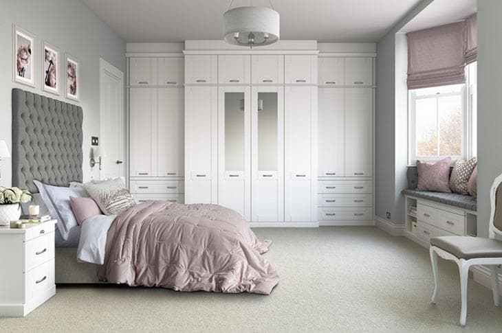Fragrance in a white fitted seton bedroom
