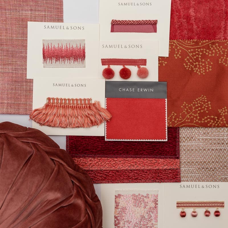 living coral bedroom mood board