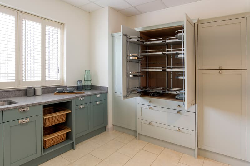 Croft kitchen with larder cupboard