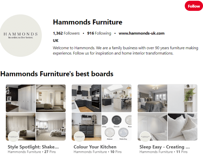 Hammonds Pinterest