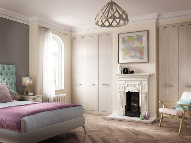 Radley White Ash Fitted Bedroom