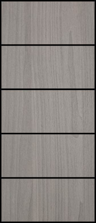5 Piece Sliding  - All Panels - Nordic Grey