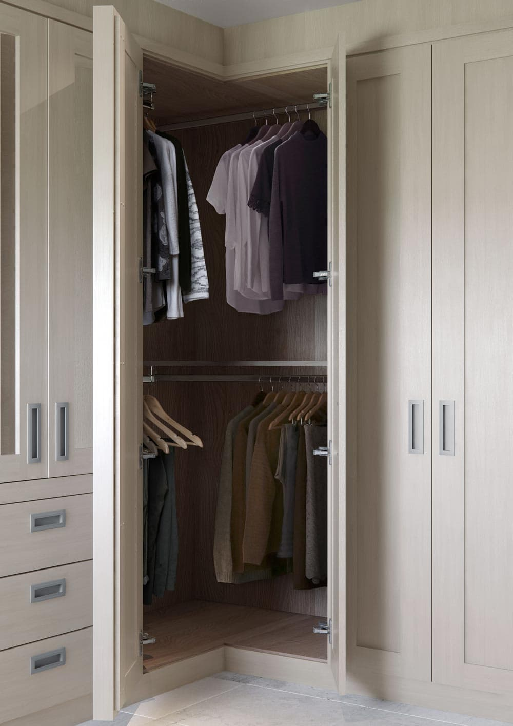 fitted corner wardrobes built  corner wardrobe ideas