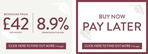 Finance offers - 42 a month with 8.9% apr or buy now pay later