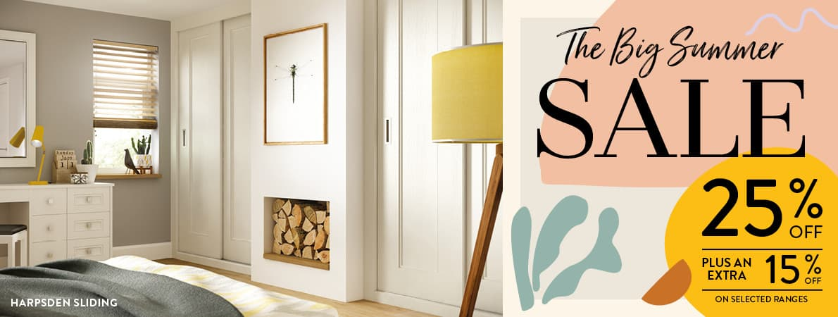 The Big Summer Sale. 25% off selected finishes.