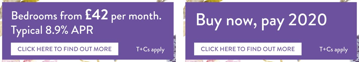Finance offers - 42 a month with 8.9% apr or buy now pay in 2020