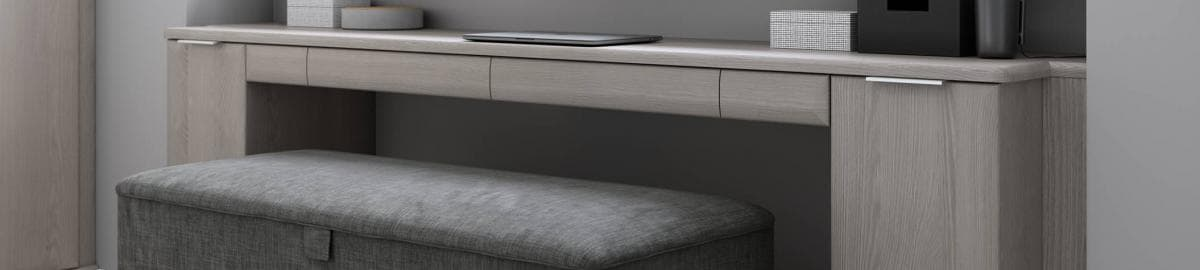 Cropped Hammonds ottoman in charcoal
