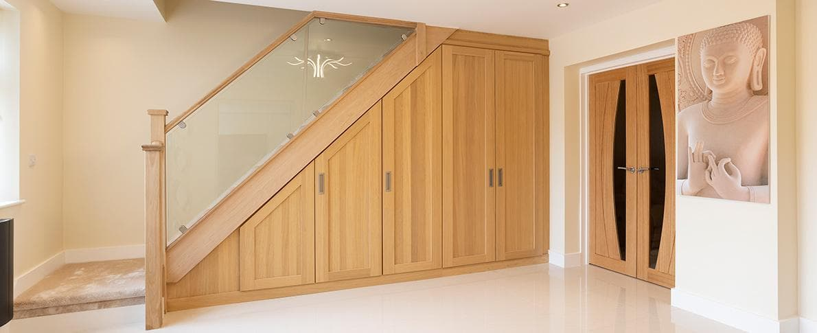 under the stairs fitted storage
