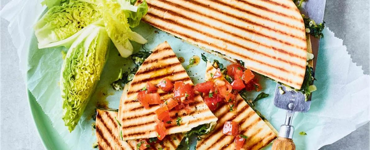 Spinach and Feta Flatbreads
