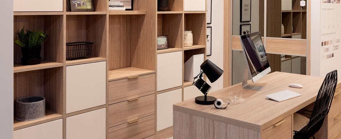 an organised office