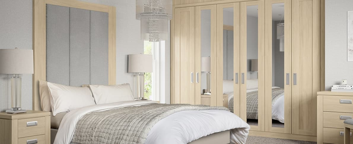 Hammonds Willoughby Sand Washed Oak Fitted Wardrobe