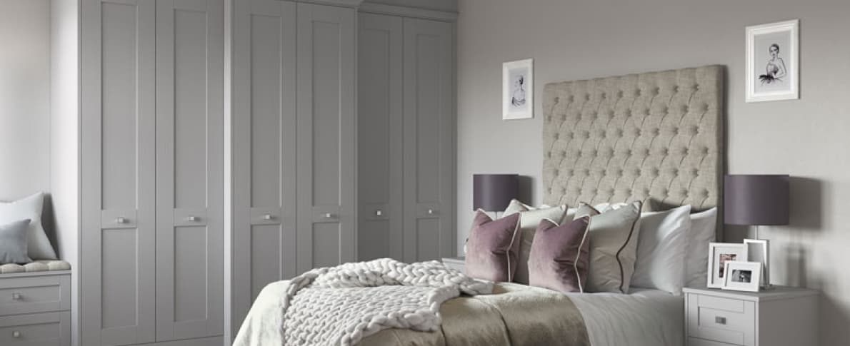 Classic grey fitted furniture