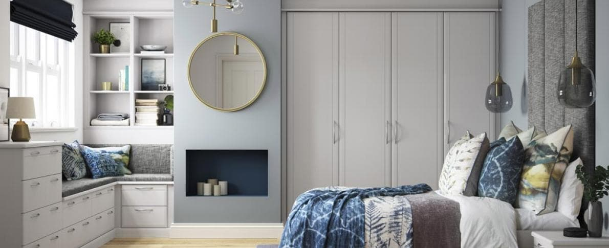 Hammonds Libretto wardrobes in light grey