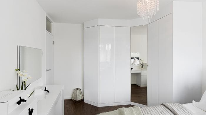 High gloss wardrobes Scandinavian