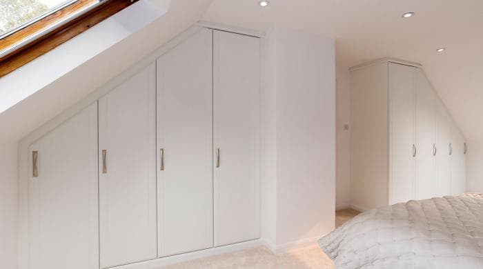 White Fitted Wardrobes Perfect For Sloped Ceilings Hammonds