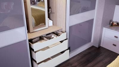 Bedroom storage fitted wardrobe storage hammonds for Bedroom furniture soft close drawers