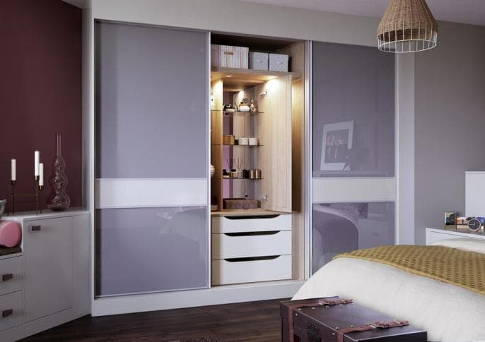 Another 3 piece cashmere sliding wardrobes in high gloss