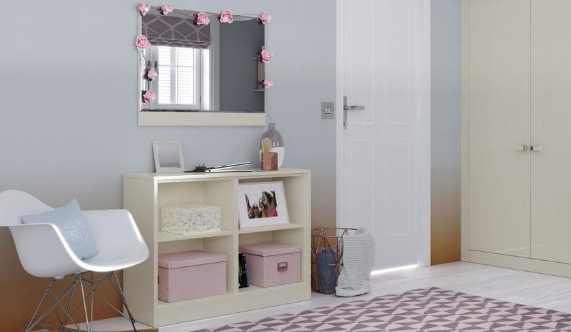 Elkin Cream SC03 Wall Mirror Bookcase