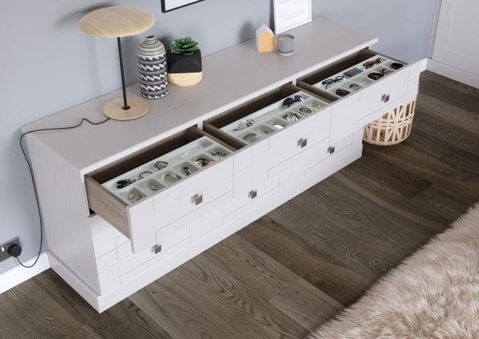 Seton Range White Ash Drawers