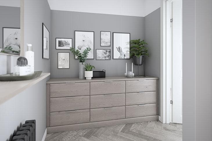Avon fitted bedroom range chest of drawers