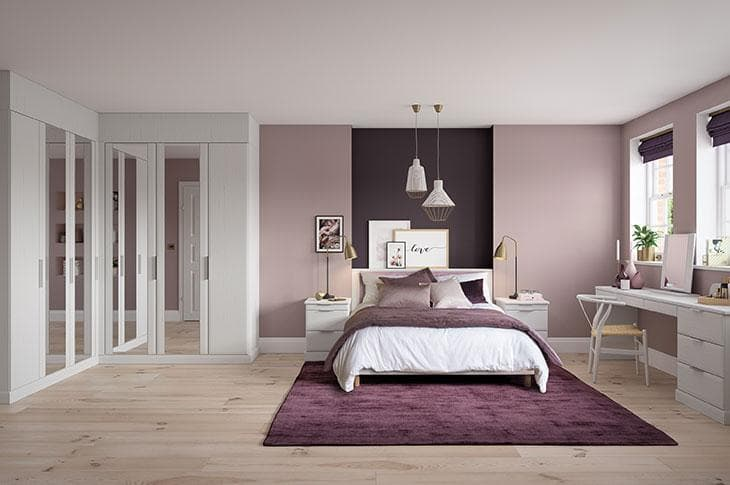 Hammonds Avon white fitted bedroom