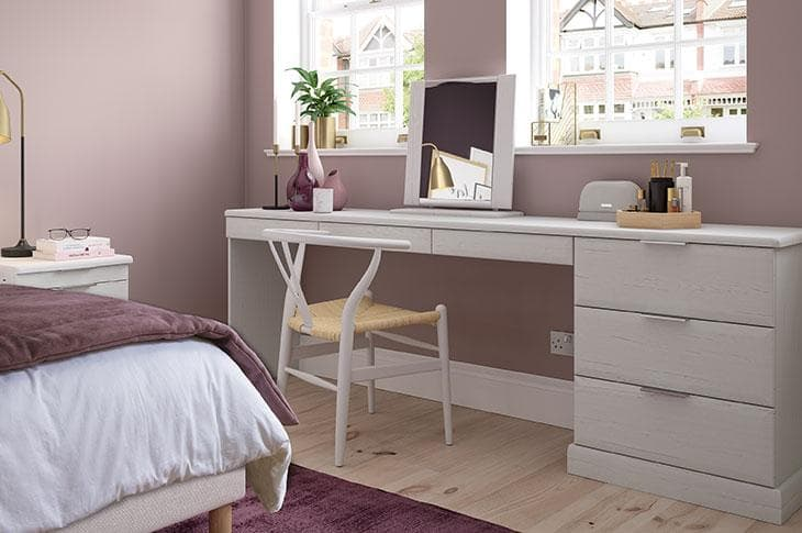 Avon matching bedroom furniture in white ash