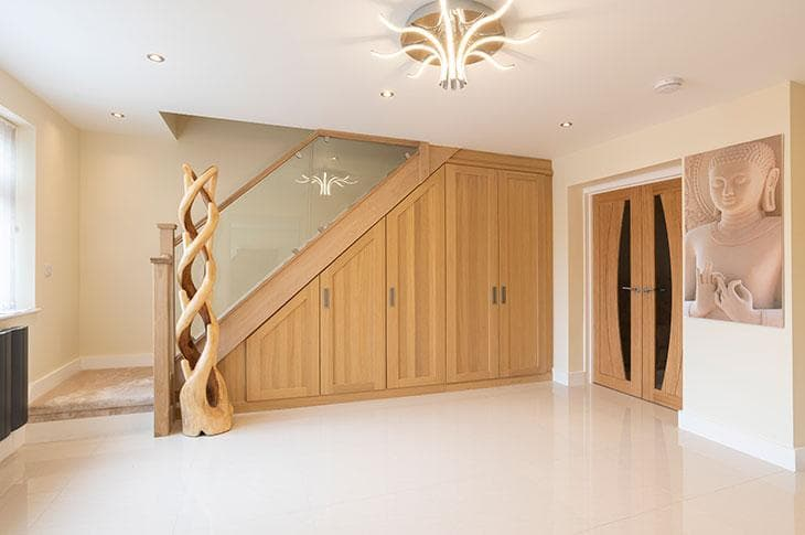 Hammonds Fitted Furniture Under Stairs Oak