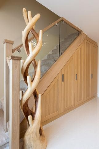 Under the stairs oak fitted storage