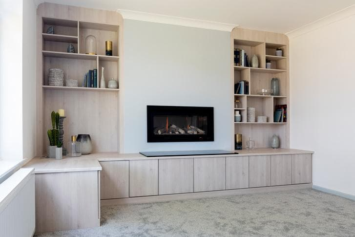 Fitted Living Room Storage In A Light Timeless Range Hammonds