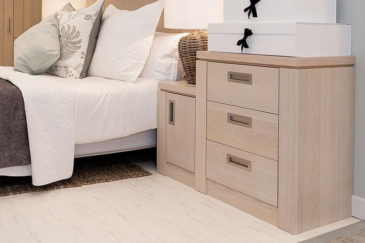 Bedside cabinet and chest of drawers