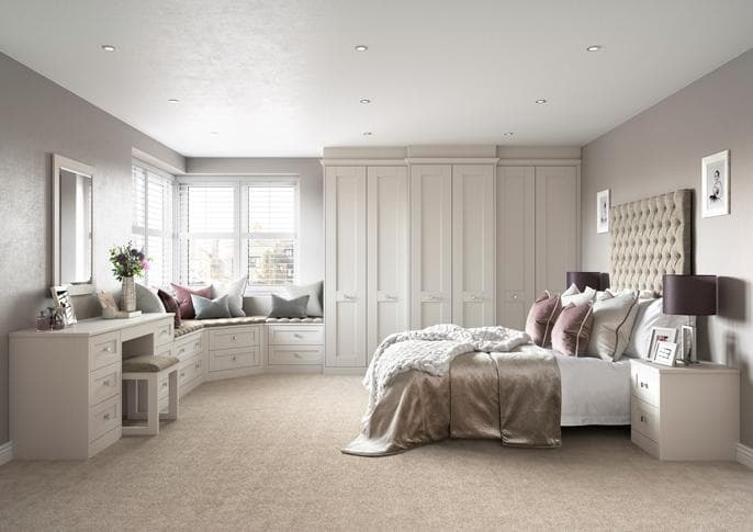 Hammonds Croft bedroom in white