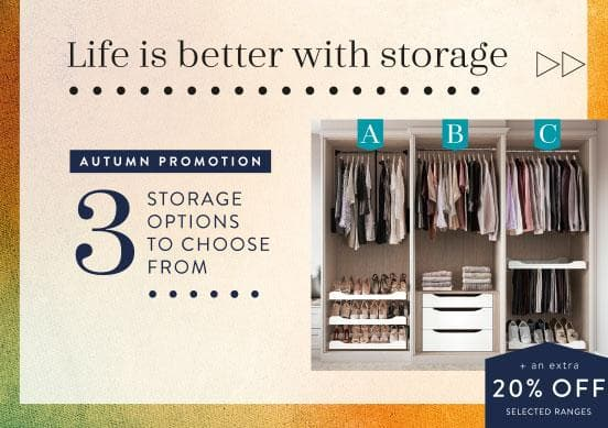 Autumn storage sale