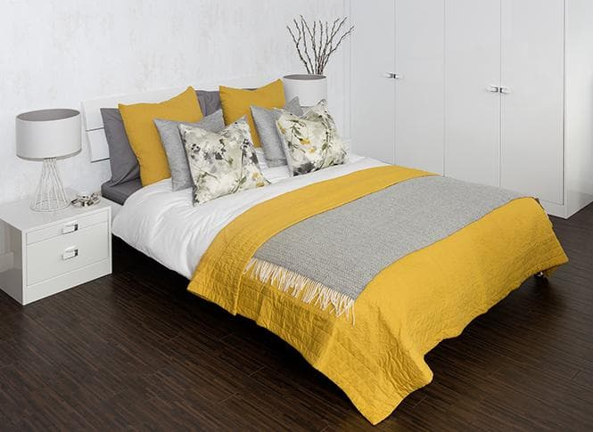 Elkin Frost grey and yellow bedding