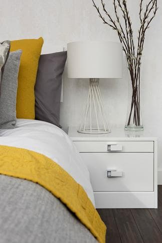 Elkin Frost grey and yellow bedding 3