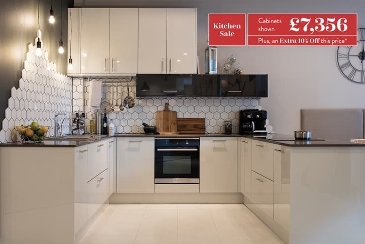 Loxley kitchen in gloss with cabinets price