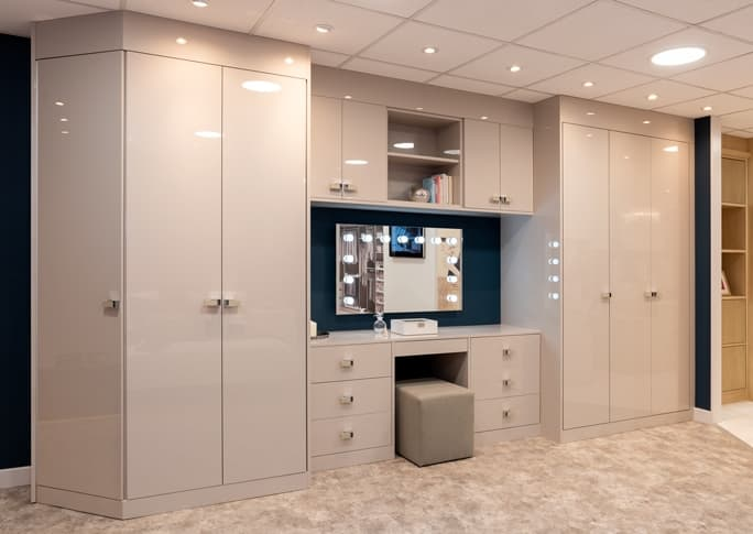 Image of white dressing table area at Park Furnishers Store in Bristol