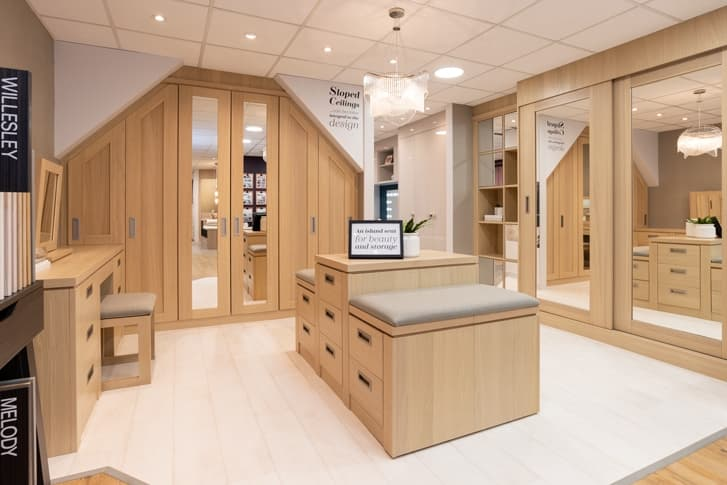 Image of a walk in wardrobe at Park Furnishers Store in Bristol