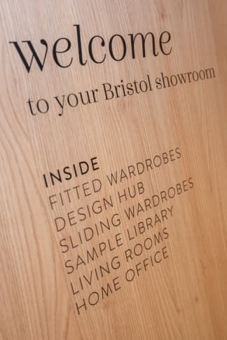 Welcome wall at Bristol Park Furnishers store