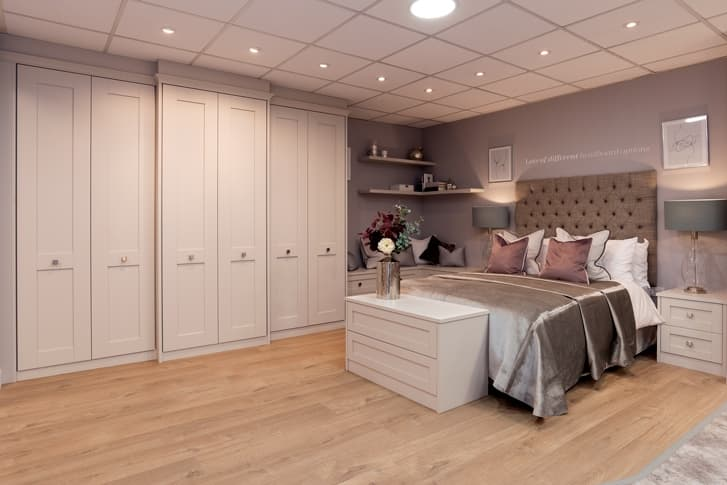 Grey bedroom set at Park Furnishers Store in Bristol