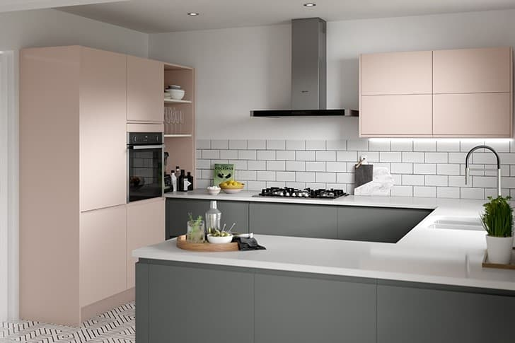 J Handle Kitchen Pink and Charcoal
