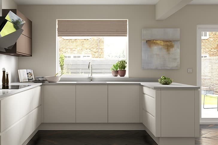 J handle modern kitchen
