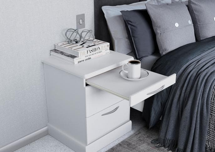 Hammonds Libretto bedside table in matt white