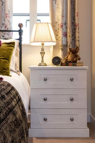 Hammonds Seton bedside table in white ash