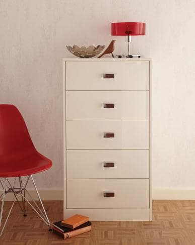 Elkin chest of drawers in white