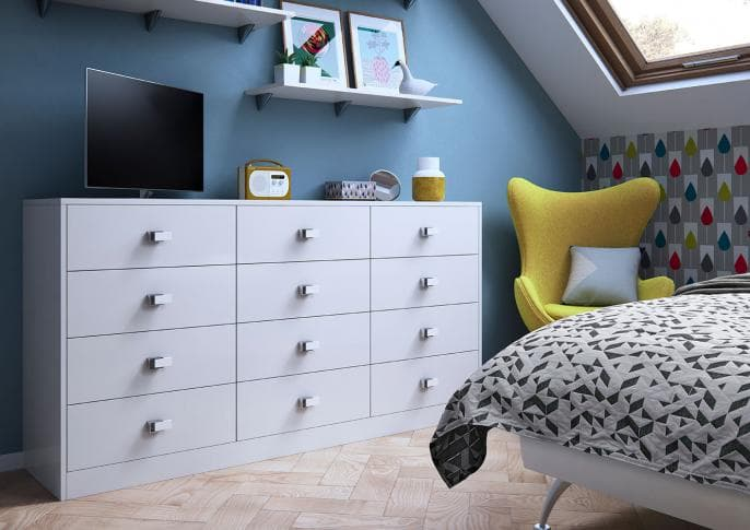 Elkin chest of drawers in frost