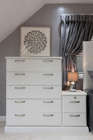 Hammonds chest of drawers with bedroom accessories on top