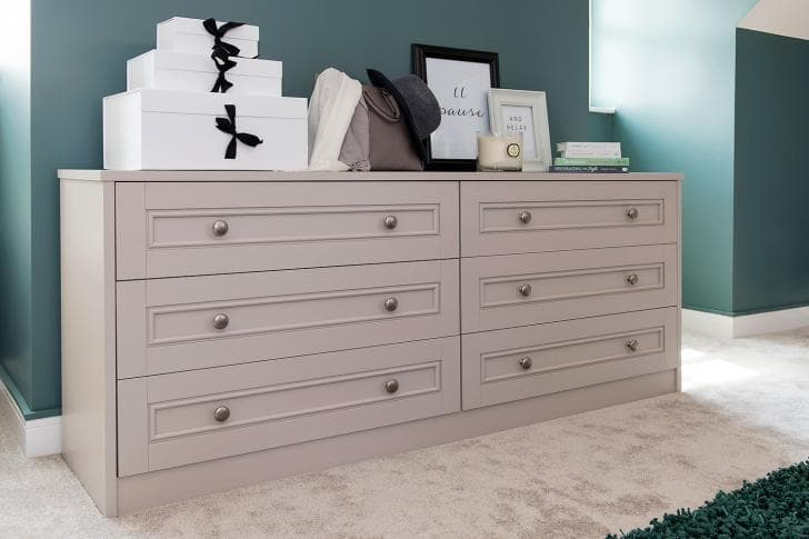 Hammonds chest of drawers with gifts on top